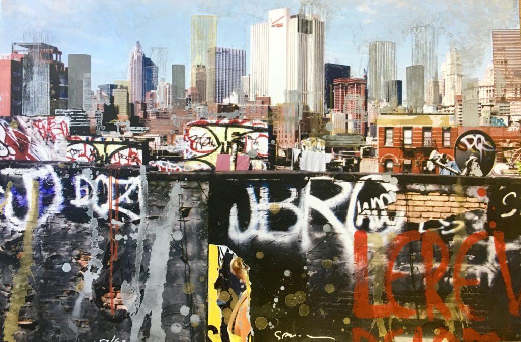 GOTTFRIED SALZMANN – LE RÊVE NEW YORK – GRAVURE SUR PHOTOGRAPHIE SIGNÉE ET NUMÉROTÉE 53/60 EXEMPLAIRES – 59X89CM – 2014