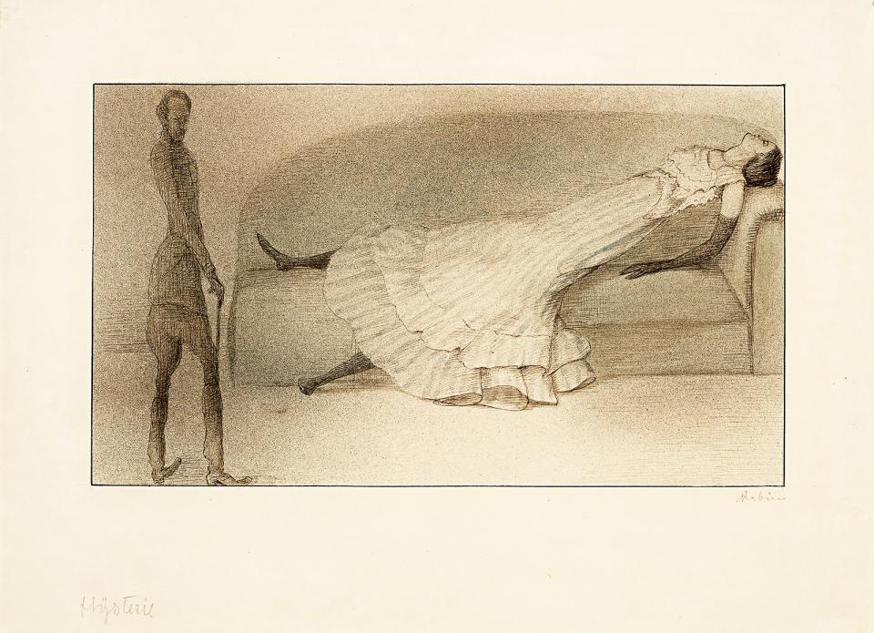 © Vienne, Leopold Museum_Alfred Kubin, Hysteria [Hystérie] vers 1901 Encre et aquarelle, 24 x 33 cm