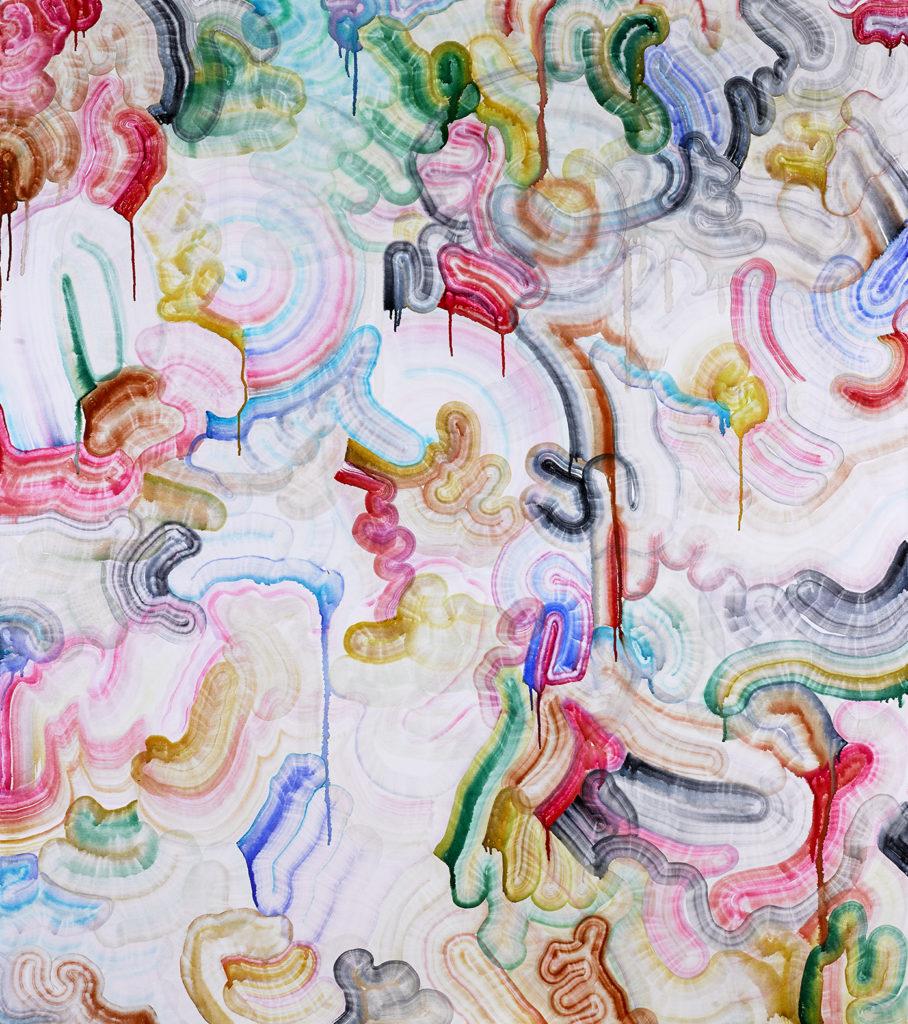 Patricia Reinhart Sans Titre Aquarelle Feutre Sur Toile 170 X 150 Cm 2019