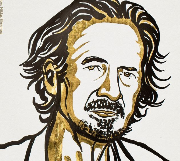 Peter Handke Illustrations (c) Niklas Elmehed, Photo Courtesy Nobel Media